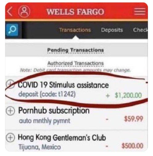stimulus check humor